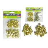144 Units of 50 Pc Gold/Silver Bells for Festival Decoration - Craft Kits