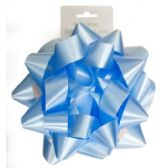 96 Units of 9 Inch Bow Blue - Bows & Ribbons