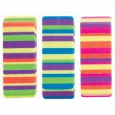 184 Units of Beveled Stripes Eraser