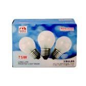80 Units of 3PC CLEAR LIGHT BULBS 75W - LIGHTBULBS