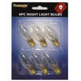96 Units of 6PC NIGHT LIGHT BULB CLEAR 6.5x4.5 IN - Lightbulbs