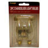 96 Units of 2PC CHANDELIER LIGHT BULBS NARROW BASE - LIGHTBULBS
