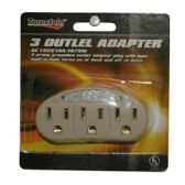 96 Units of 3 OUTLET ADAPTERS - ADAPTRS/COUPLERS/JACKS/OUTLETS