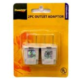 96 Units of 2PC OUTLET ADAPTOR - Chargers & Adapters