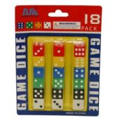 144 Units of 18PC DICE SET 6x4.5 IN - Playing Cards, Dice & Poker