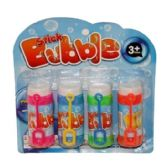 96 Units of 4 PIECE BUBBLES IN A BLISTER CARD - Bubbles