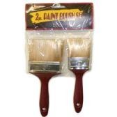 96 Units of 2 PIECE PAINT BRUSH - Paint and Supplies