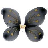 144 Units of Halloween Black/ Orange Light Up Angel Wings - Costumes & Accessories