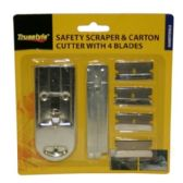 96 Units of SAFETY SCRAPER & CUTTER W 4 BLADES - Paint and Supplies