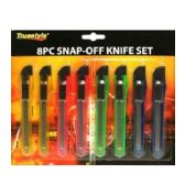 96 Units of 8PC SNAP-OFF KNIFE SET - Box Cutters and Blades
