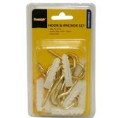 96 Units of 24 PIECE 10MM HOOK AND ANCHOR