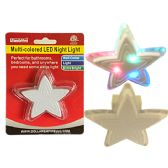 96 Units of LED Multicolored Star Night Light Wall Outlet