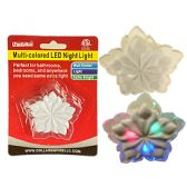 96 Units of LED Multicolored Flower Night Light Wall Outlet - Night Lights