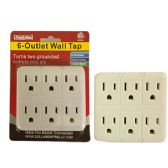 96 Units of 6 Outlet Wall Tap Adapter