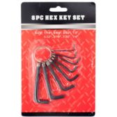 100 Units of 8PC HEX KEY SET - Hex Keys