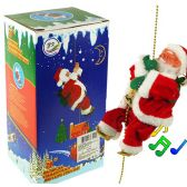 12 Units of Climbing Santas w/ Music - Christmas