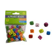 144 Units of Wood Bead Letter 60pc