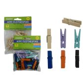 144 Units of Clothespin Mini 35pc 2 Asst