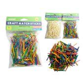 144 Units of 750 Pieces Craft Match Sticks - Craft Wood Sticks and Dowels