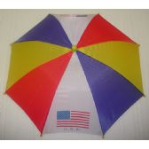 "120 Units of 13"" Umbrella Hat For Sun Protection - Sun Hats"