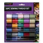 96 Units of 30 PIECE SEWING THREAD SET 8.5x7.2 IN - Sewing Thread