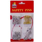 144 Units of 125 PIECE SILVER SAFETY PINS - SAFETY PINS