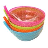 96 Units of 4 PIECE BOWL WITH STRAW 12.8CM - Plastic Dinnerware