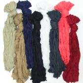 72 Units of Wrinkle Scarf - Winter Scarves