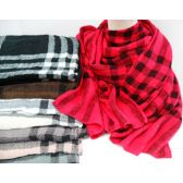 36 Units of Wool Like Plaid Scarf - Winter Scarves