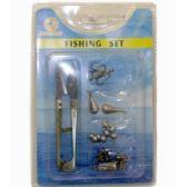 120 Units of 5 PIECES FISHING SET SCISSOR HOOKS PEAR - Fishing Items