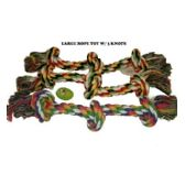 120 Units of DOG ROPE TOY 3 KNOTS