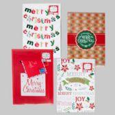 72 Units of Gift Box 1pk Coat Christmas 14x20x4 In. 4 Asst Designs