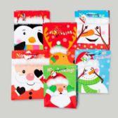 96 Units of Gift Bag Large No Peeking Christmas