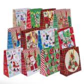 216 Units of Gift Bag 3 Size Asst Med LG XL 12 Assorted Prints