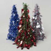 72 Units of Christmas Tree Tinsel Cone