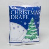 72 Units of Christmas Drape White W/glitter - Christmas Novelties