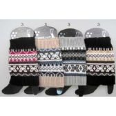 24 Units of Wholesale Multi-color Patterned Knitted Boot Topper Leg Warmers
