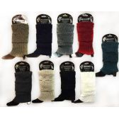 36 Units of Wholesale Knitted Boot Topper with Intricate Patterns Leg Warmer - Arm & Leg Warmers