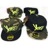 2e09909d18f 48 Units of Wholesale Snap Back Flat Bill Yes! Assorted Colors Hats - Hats  With