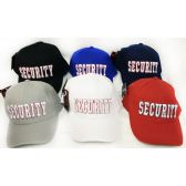 48 Units of Wholesale Adjustable Baseball Hat Security with Outline Assorted - Hats With Sayings