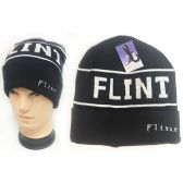 48 Units of Wholesale Winter Knitted Beanie Hat Flint Toboggan Hat - Hats With Sayings