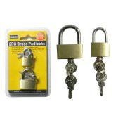 144 Units of 2 Piece Brass Padlocks - Padlocks and Combination Locks