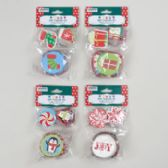 48 Units of Baking Cup WITH /picks - Christmas Novelties