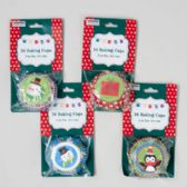 48 Units of Baking Cups Christmas Prints - Christmas Novelties