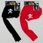 96 Units of Pirate Hat Red Or Black - Halloween & Thanksgiving