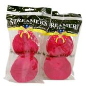 72 Units of 2PC STREAMER HOT PINK - Streamers/Confetti/Whirlers