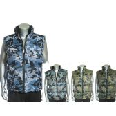 24 Units of MEN'S CAMOFLAUGE REVERSIBLE VEST Q14 - Mens Jackets
