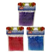 144 Units of 60 PACK PARTY PICKS ASST COLORS - Party Misc.