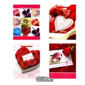 288 Units of MEDIUM LOVE GLITTER BAG # 3