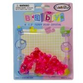144 Units of BABY FAVOR TEDDY BEAR CRYSTAL 4CT - Baby Shower